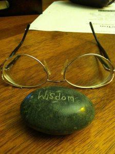 Wisdom written in stone.